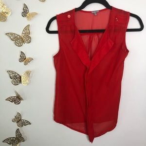 🦋🌙 CHARLOTTE RUSSE   Red Sleeveless Airy Top